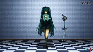 Rating: Safe Score: 93 Tags: flowers green_eyes green_hair hatsune_miku rose twintails ukai_saki vocaloid User: korokun