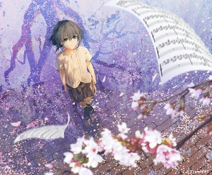 Rating: Safe Score: 35 Tags: cherry_blossoms flowers mocha_(cotton) paper petals rask scenic tagme_(character) tryment_-ima_o_kaetai_to_negau_anata_e- water User: FormX