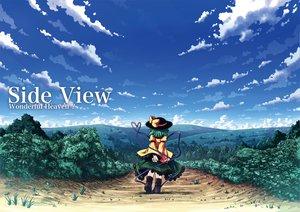 Rating: Safe Score: 30 Tags: clouds etogami_kazuya hat komeiji_koishi landscape scenic touhou User: HawthorneKitty