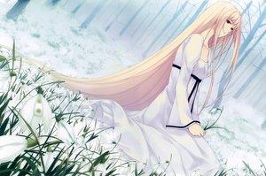 Rating: Safe Score: 77 Tags: blonde_hair caucasus dress long_hair nanatsuki_shion red_eyes sugina_miki tree User: luckyluna