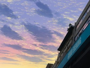 Rating: Safe Score: 24 Tags: building clouds mclelun original reflection sky sunset watermark User: RyuZU