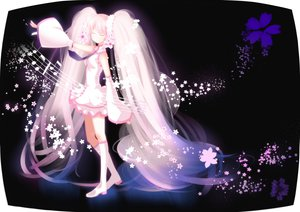 Rating: Safe Score: 62 Tags: flowers hatsune_miku long_hair pink_hair sakura_miku swordsouls tie twintails vocaloid User: opai