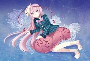 Rating: Safe Score: 34 Tags: bow dress hata_no_kokoro long_hair mask pink_hair purple_eyes shimazaki touhou User: Shupa