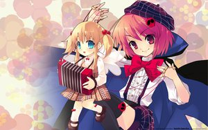 Rating: Safe Score: 19 Tags: blonde_hair doll itou_noiji loli puppet red_hair wings User: ghostmuffin