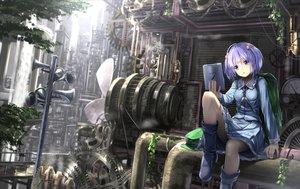Rating: Safe Score: 226 Tags: blue_eyes blue_hair boots computer hat industrial kawashiro_nitori ryosios short_hair skirt touhou tree User: Flandre93