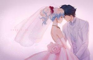 Rating: Safe Score: 91 Tags: dress mosako nia simon tengen_toppa_gurren_lagann wedding wedding_attire User: mattiasc02