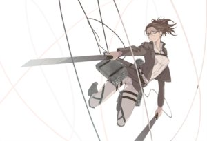Rating: Safe Score: 45 Tags: glasses hanji_zoe kunimitsu shingeki_no_kyojin sword weapon white User: FormX