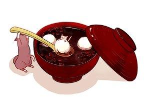 Rating: Safe Score: 40 Tags: animal cat food hakuchizu_(jedo) nobody original signed waifu2x white User: otaku_emmy