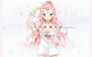 Rating: Safe Score: 153 Tags: anmi blue_eyes blush long_hair no_bra original pink_hair User: FormX