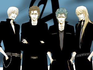 Rating: Safe Score: 15 Tags: aizen_sousuke all_male bleach grimmjow_jeagerjaques ichimaru_gin male tagme_(character) User: Oyashiro-sama