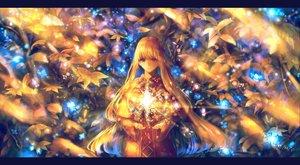 Rating: Safe Score: 40 Tags: blonde_hair bou_nin brown_eyes leaves long_hair magic original User: BattlequeenYume
