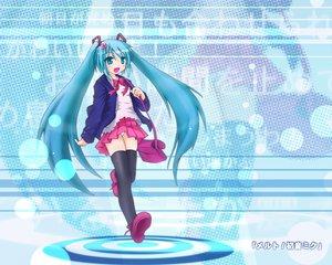 Rating: Safe Score: 52 Tags: blue_eyes blue_hair blush hatsune_miku panties ribbons skirt thighhighs twintails underwear vocaloid User: Oyashiro-sama