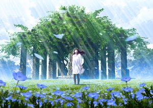 Rating: Safe Score: 30 Tags: clouds dress flowers long_hair mocha_(cotton) original pantyhose petals scenic signed sky tree User: otaku_emmy