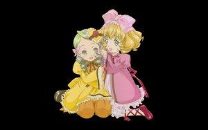 Rating: Safe Score: 10 Tags: 2girls black hina_ichigo kanaria lolita_fashion rozen_maiden transparent User: Oyashiro-sama