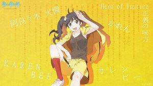 Rating: Safe Score: 23 Tags: araragi_karen bakemonogatari black_hair brown_eyes logo long_hair monogatari_(series) nisemonogatari photoshop ponytail shorts socks tagme_(artist) User: RyuZU