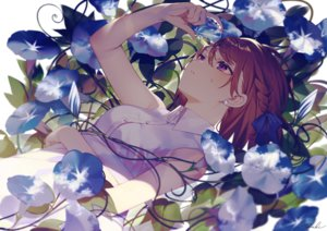 Rating: Safe Score: 82 Tags: achiki braids brown_hair close dress flowers original purple_eyes shade short_hair signed summer_dress User: BattlequeenYume