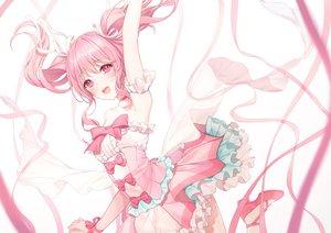 Rating: Safe Score: 95 Tags: a20_(atsumaru) bang_dream! blush bow dress maruyama_aya pink pink_eyes pink_hair ribbons tears twintails white wristwear User: Dreista