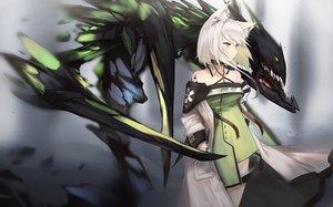 Rating: Safe Score: 39 Tags: animal_ears arknights gray_hair green_eyes kal'tsit_(arknights) kashiyarrm User: RyuZU
