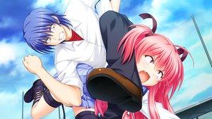 Rating: Safe Score: 12 Tags: angel_beats! game_cg hinata_hideki key na-ga yui_(angel_beats!) User: Tensa