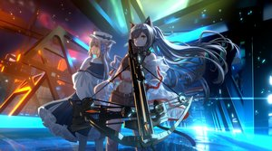 Rating: Safe Score: 45 Tags: animal_ears arknights bow_(weapon) ceylon_(arknights) industrial lmf13007102 long_hair schwarz_(arknights) see_through weapon User: Dreista