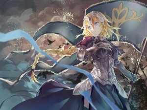 Rating: Safe Score: 156 Tags: animal armor avamone bird blonde_hair blue_eyes braids chain dress fate/apocrypha fate/grand_order fate_(series) fate/stay_night headdress jeanne_d'arc_(fate) long_hair ponytail tree User: Flandre93