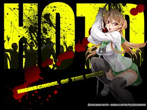 Rating: Safe Score: 113 Tags: blood highschool_of_the_dead miyamoto_rei red_eyes school_uniform thighhighs weapon User: pantu