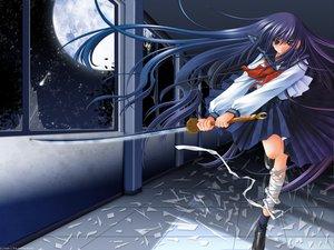 Rating: Safe Score: 23 Tags: azuma_hazuki carnelian school_uniform sword weapon yami_to_boushi_to_hon_no_tabibito User: Oyashiro-sama