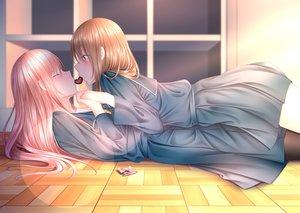 Rating: Safe Score: 45 Tags: 2girls blue_eyes candy chocolate long_hair naginagiwaffle original pink_hair seifuku shoujo_ai valentine User: sadodere-chan
