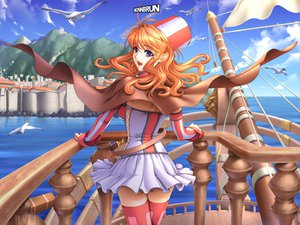 Rating: Safe Score: 33 Tags: animal bird boat cape hat monnbrun panties sano_toshihide shichinin_no_online_gamers skirt thighhighs underwear water User: Oyashiro-sama