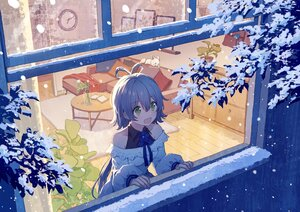 Rating: Safe Score: 86 Tags: animal book couch fox gray_hair green_eyes long_hair luo_tianyi mimengfeixue ponytail snow vocaloid vsinger winter User: BattlequeenYume
