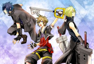 Rating: Safe Score: 55 Tags: cloud_strife final_fantasy final_fantasy_versus_xiii final_fantasy_vii final_fantasy_vii_advent_children kingdom_hearts noctis_lucis_caelum sora User: HawthorneKitty