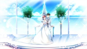 Rating: Safe Score: 19 Tags: ensemble_(company) game_cg koi_wa_sotto_saku_hana_no_you_ni kotoishi_iori male suit sumeragi_rei tagme_(artist) water wedding wedding_attire User: FormX