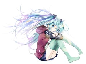 Rating: Safe Score: 103 Tags: hatsune_miku kamisa thighhighs vocaloid white User: FormX