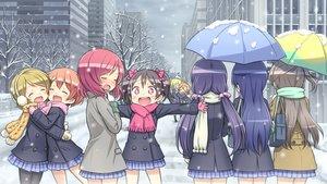Rating: Safe Score: 175 Tags: ayase_eri blonde_hair blush brown_hair building city gloves hoshizora_rin koizumi_hanayo kousaka_honoka kuinji_51go long_hair love_live!_school_idol_project minami_kotori nishikino_maki pink_eyes pink_hair purple_hair scarf school_uniform short_hair skirt snow sonoda_umi toujou_nozomi tree umbrella winter yazawa_nico User: Maboroshi