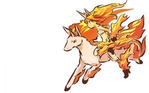 Rating: Safe Score: 76 Tags: anthropomorphism hitec moemon pokemon rapidash white User: Bad_Girl