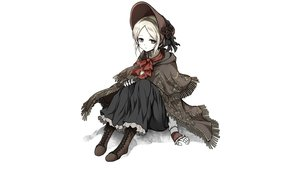 Rating: Safe Score: 67 Tags: blonde_hair bloodborne boots doll dress flowers goth-loli gray_eyes hat headdress lolita_fashion necklace ribbons shimoda_masaya the_doll white User: Hakha