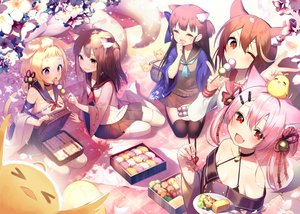 Rating: Safe Score: 17 Tags: aliasing animal_ears anthropomorphism ariake_(azur_lane) azur_lane blonde_hair brown_eyes brown_hair catgirl fang flowers food foxgirl group hatsuharu_(azur_lane) hatsushimo_(azur_lane) loli long_hair manjuu_(azur_lane) orange_eyes pink_hair purple_eyes red_eyes school_uniform shirako_sei tail thighhighs wakaba_(azur_lane) yuugure_(azur_lane) User: Nepcoheart