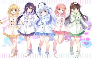 Rating: Safe Score: 74 Tags: animal aqua_eyes black_hair blonde_hair blue_hair boots brown_hair chocho_(homelessfox) dress gochuumon_wa_usagi_desu_ka? green_eyes group headband hoto_cocoa kafuu_chino kirima_sharo long_hair orange_hair purple_eyes rabbit short_hair tedeza_rize tippy_(gochiusa) twintails ujimatsu_chiya waifu2x wink User: otaku_emmy