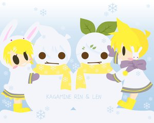 Rating: Safe Score: 8 Tags: kagamine_len kagamine_rin male snow snowman vocaloid User: HawthorneKitty