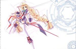 Rating: Safe Score: 18 Tags: braids long_hair ohno_tetsuya priecia prism_ark ribbons sword thighhighs weapon white User: Oyashiro-sama