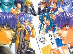Rating: Safe Score: 9 Tags: book camera chidori_kaname full_metal_panic glasses gun hayashimizu_atsunobu kazama_shinji kurz_webber melissa_mao sagara_sousuke teletha_testarossa tokiwa_kyoko weapon User: Oyashiro-sama