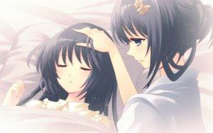 Rating: Safe Score: 17 Tags: 2girls bed flyable_heart itou_noiji kimi_no_nagori_wa_shizuka_ni_yurete shirasagi_mayuri shirasagi_sayuri User: Tensa