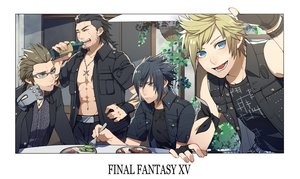 Rating: Safe Score: 33 Tags: all_male black_hair blonde_hair blue_eyes brown_hair drink final_fantasy final_fantasy_xv food gladiolus_amicitia glasses gloves green_eyes group ignis_scientia kiragera male navel necklace noctis_lucis_caelum open_shirt prompto_argentum scar short_hair suit tattoo waifu2x User: otaku_emmy