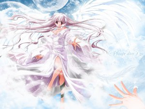 Rating: Safe Score: 15 Tags: barefoot breasts cleavage clouds gray_hair japanese_clothes kimono long_hair moon red_eyes sky tagme_(artist) tagme_(character) User: Oyashiro-sama