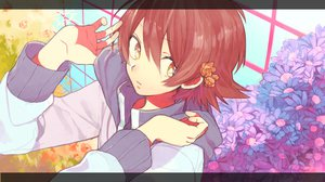 Rating: Safe Score: 33 Tags: all_male brown_eyes brown_hair flowers male muraichi pokemon touya User: STORM