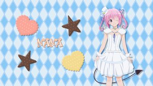 Rating: Safe Score: 63 Tags: asaka_(asa_net21) dress hat lolita_fashion nana_asta_deviluke pink_hair purple_eyes ribbons short_hair tail to_love_ru twintails wink User: gnarf1975