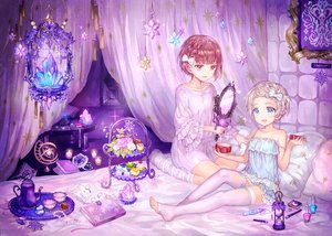 Rating: Safe Score: 149 Tags: anthropomorphism bed food kantai_collection loli mirror purple ribbons shigaraki_(strobe_blue) thighhighs underwear z1_leberecht_maass_(kancolle) z3_max_schultz_(kancolle) User: Flandre93
