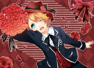 Rating: Safe Score: 19 Tags: all_male flowers hat kurusu_shou male petals uta_no_prince-sama wink User: opai