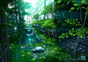 Rating: Safe Score: 94 Tags: building city original ruins shade tokyogenso tree watermark User: otaku_emmy
