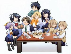Rating: Safe Score: 3 Tags: cake chibi drink food group manami_tatsuya seifuku tagme thighhighs white User: rodri1711